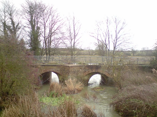 Old A508 road bridge over the River Tove