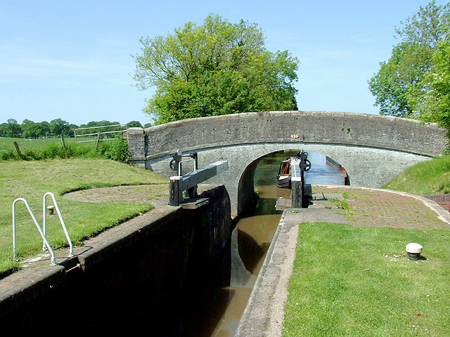 Adderley Lock No 4 south of Audlem, Shropshire