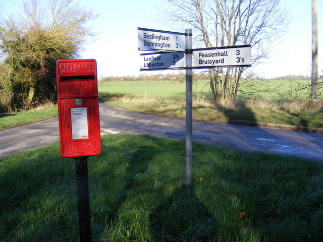 Roadsign & Pound Corner Postbox