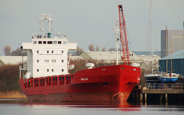 "The ""Maja"" at Coleraine"