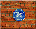 Photo of Sam Hanna Bell blue plaque