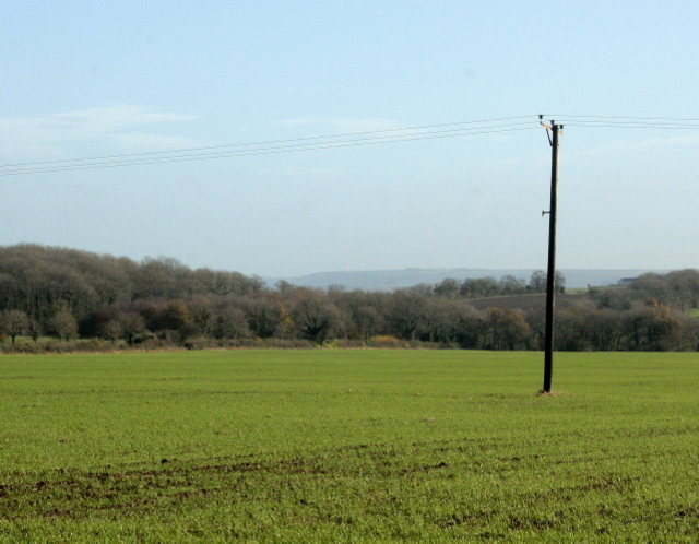 near to Whatley, Somerset, Great Britain. View east from Whatley Quarry
