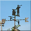 TL5248 : Weather vane, Pampisford Road by Keith Edkins