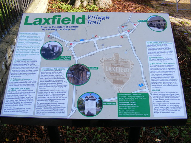 Laxfield Village Trail Sign
