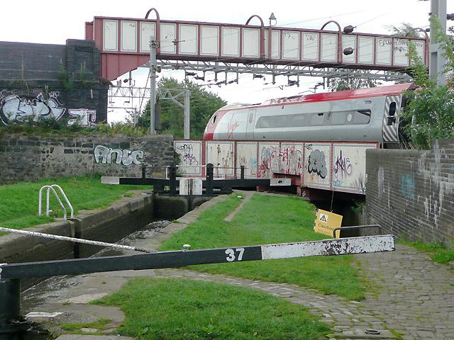 Railway bridge over the canal, Stoke-on-Trent
