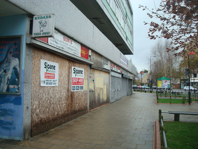 Disused shops, North Cheam