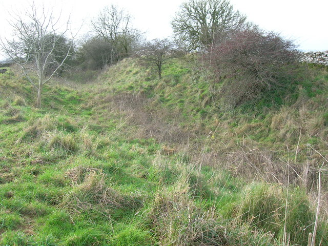 Hill Fort bank and ditch defences