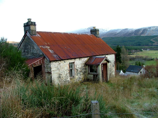 Abandoned And Dilapidated Cottage At Dave Fergusson