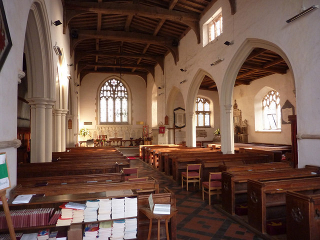 Inside Holbrook church
