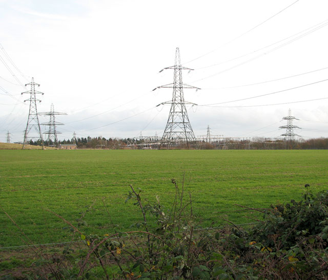 Electricity sub-station south of Mangreen