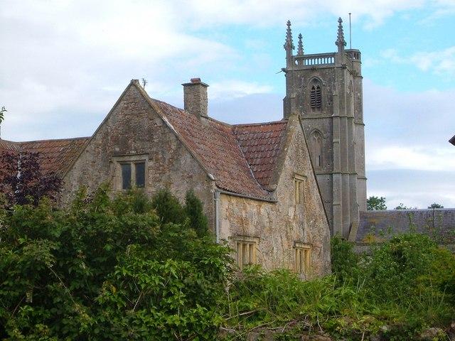 Court farm and church, Winford