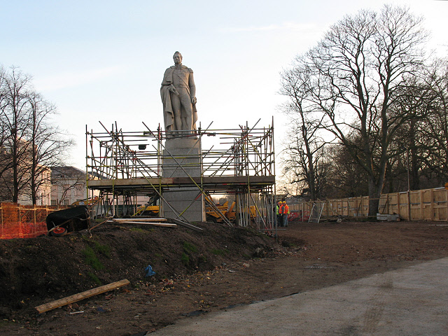 King William IV, scaffolded