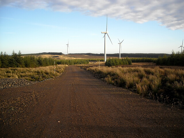 Track in Whitelee Windfarm