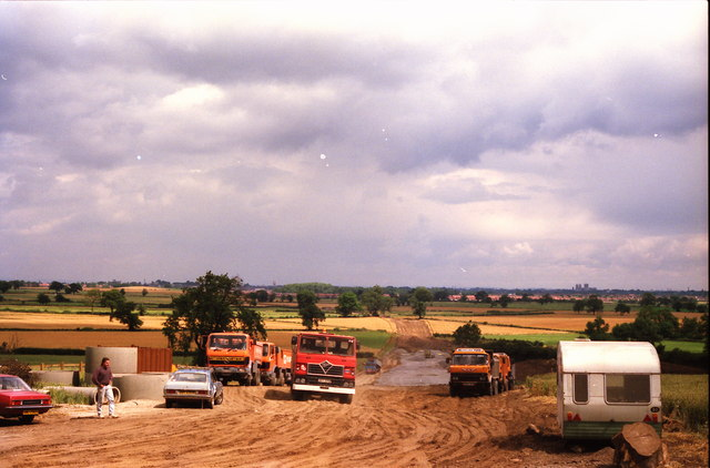A1237 York Outer Ring Road under construction