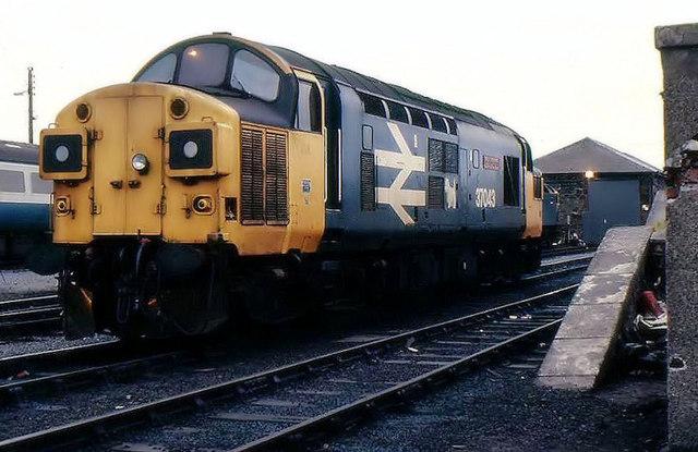 Stranraer Town railway depot