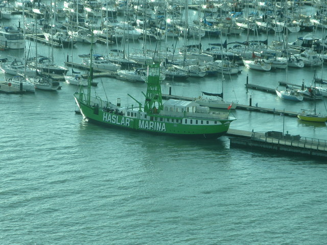 The old lightship at Haslar Marina