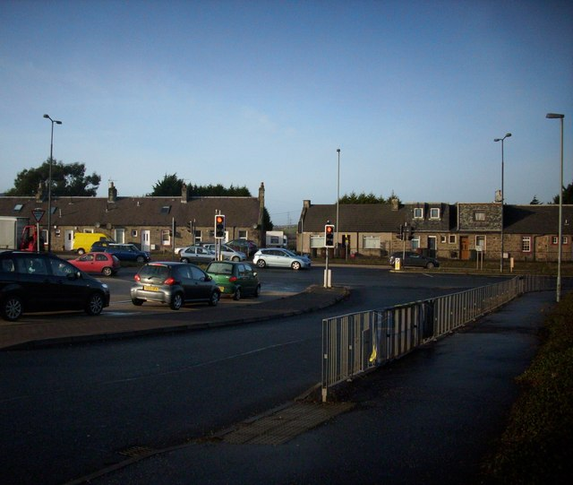 Road junction at Straiton Retail Park
