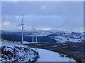 SN8077 : Cefn Croes wind farm in winter by Nigel Brown