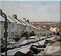TQ3205 : Snow in Bonchurch Road by Paul Gillett