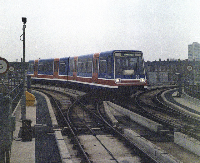 The Docklands Light  Railway at West India Quay