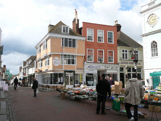 Street market, by Faversham Town Hall.