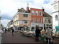 TR0161 : Street market, by Faversham Town Hall. by Colin Park