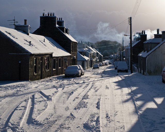 Kirkcowan Main Street in the snow
