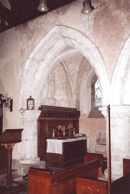 Interior of St. Mary's, Aldingbourne, West Sussex