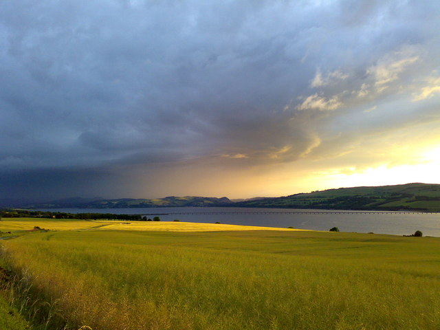 The Cromarty Bridge under stormy skies