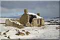 NT5039 : The ruined cottage at Ladhopemoor by Walter Baxter
