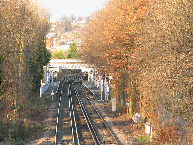 Looking down the track to Ladywell station