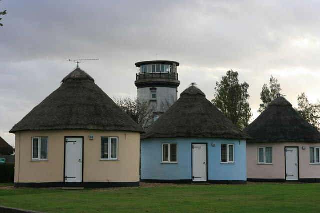 Round houses and lighthouse, Winterton