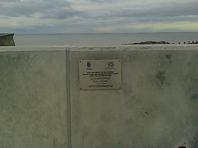 Plac Amddiffynfa Morol Aberaeron Sea Defence Plaque