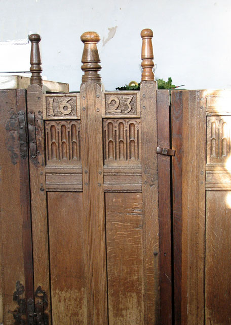 St Andrew's church - C17 box pews (detail)