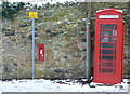 NT1877 : Cramond Inn Post box and telephone box by Alan Murray-Rust