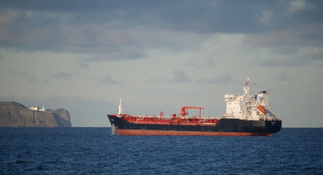 The 'Euro Swan' off Bangor