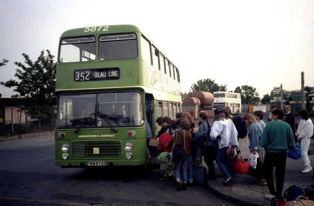 OLAU Line transfer bus, Sheerness © Dr Neil Clifton ...