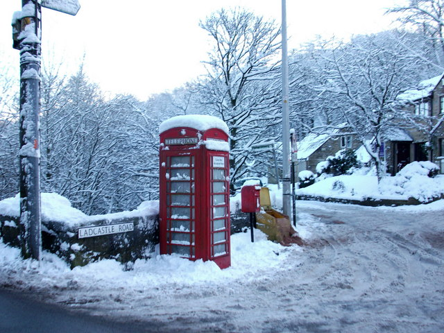 Phone Box on Ladcastle Road Dobcross