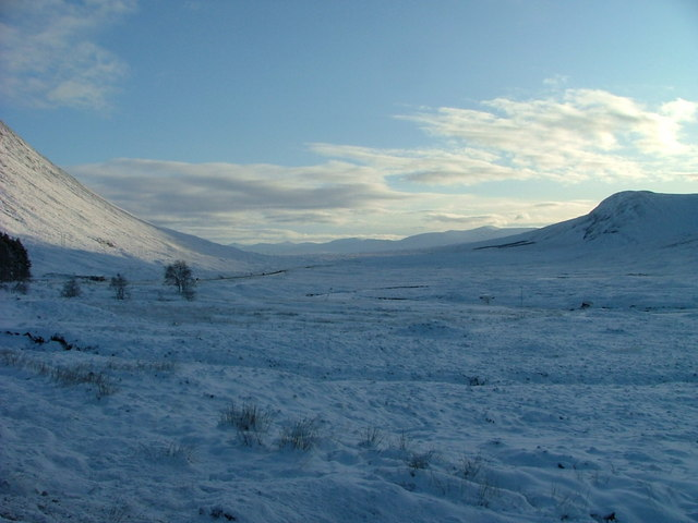 Snowy scene at Altnafeadh