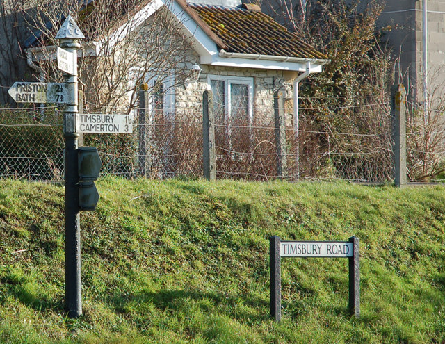 Farmborough road sign