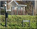 ST6660 : Farmborough road sign by Donald MacDonald