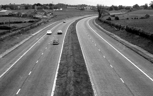 The M1 north of Lisburn