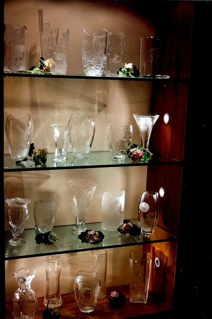 Waterford Crystal showroom - Display of vases