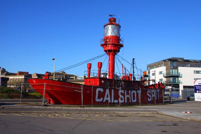 The old Calshot Spit lightship at Ocean Village