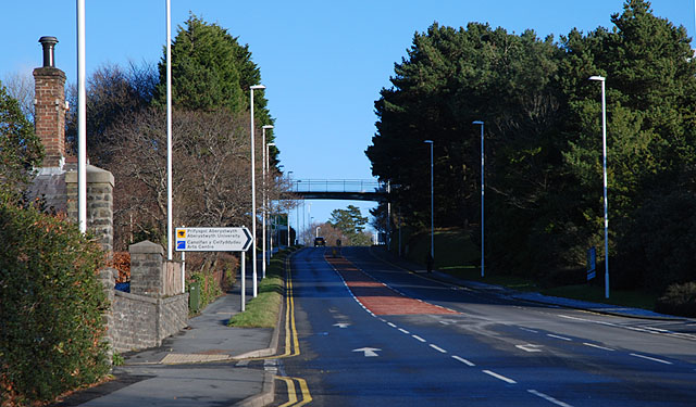 The A487 On Penglais Hill 169 Nigel Brown Geograph