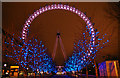TQ3079 : London Eye at Christmas by Christine Matthews
