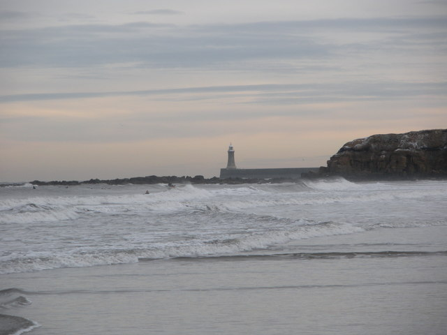 Tynemouth Pier (North side) from Long Sands