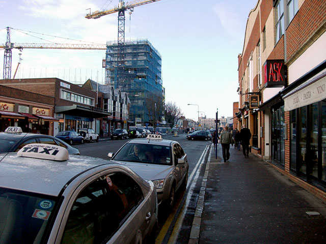End of London Road, Southend, looking west