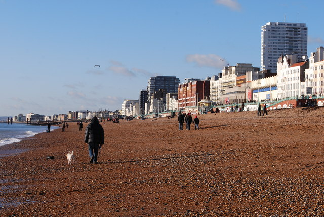 New Years Day on Brighton Beach