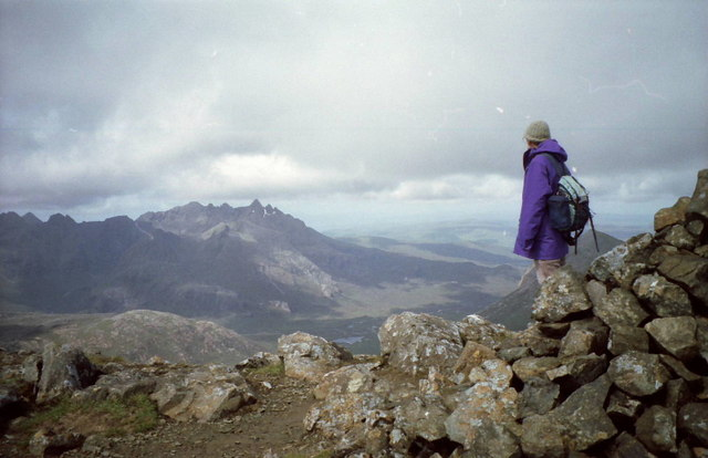 Summit cairn on Blabheinn